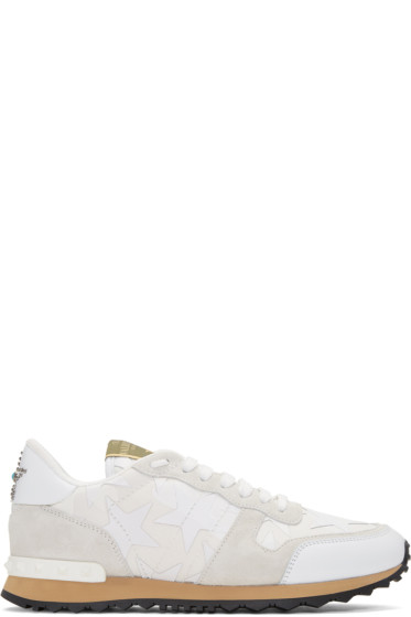 Valentino -  White Camo Rockrunner Sneakers