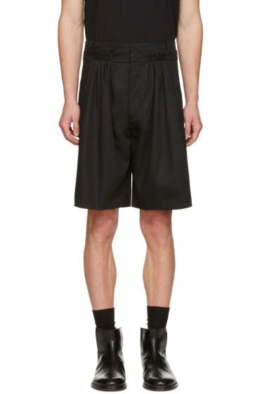 J.W.Anderson - Black Pleat Front Baggy Shorts