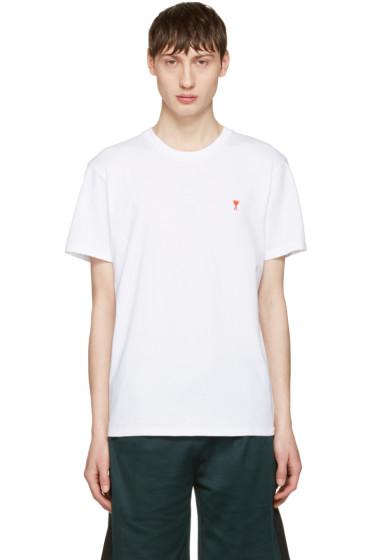 AMI Alexandre Mattiussi - White 'Ami de Coeur' T-Shirt