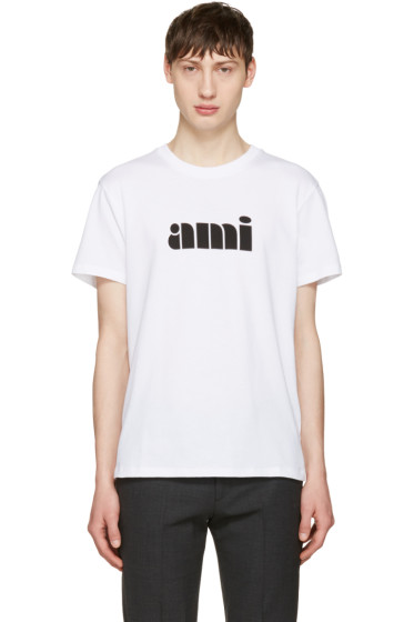 AMI Alexandre Mattiussi - White Logo T-Shirt