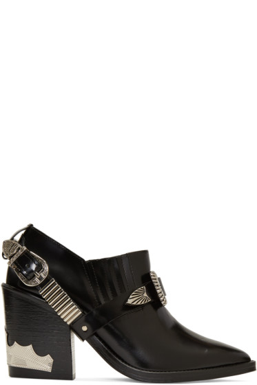 Toga Pulla - Black Western Strap Boots
