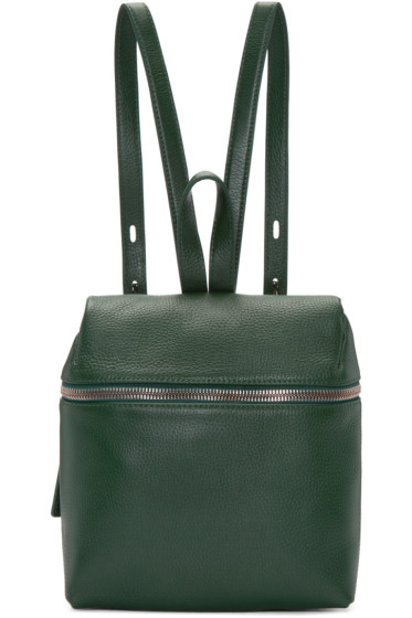 Kara - Green Leather Small Backpack