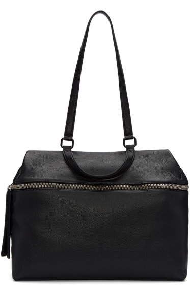 Kara - Black Leather Satchel
