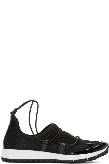 Jimmy Choo - Black Andrea Low-Top Sneakers