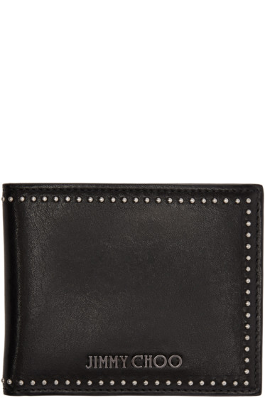 Jimmy Choo - Black Studded Mark Wallet