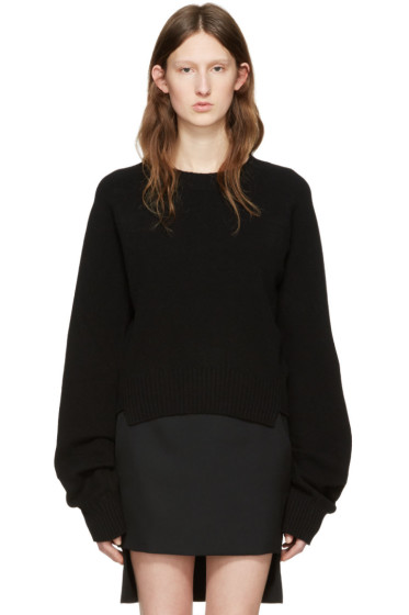 Haider Ackermann - Black Cropped Sweater