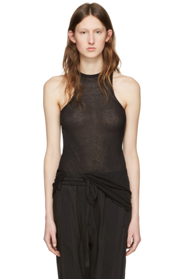 Haider Ackermann - Black Raw Hem Tank Top