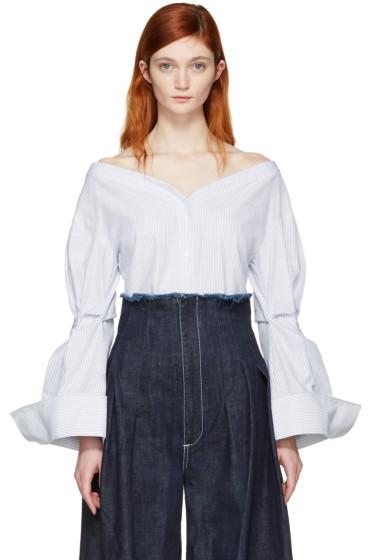 Jacquemus - Blue 'La Chemise Épaules Nues' Shirt