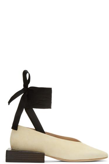 Jacquemus - Beige 'Les Chaussures Lacées' Loafers