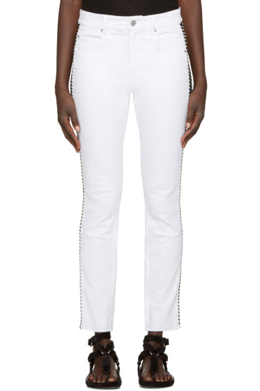 Isabel Marant Etoile - White Two-Tone Haven Jeans