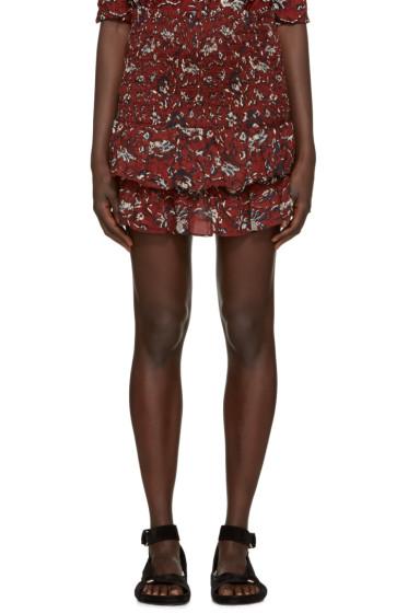 Isabel Marant Etoile - Burgundy Alfos Miniskirt
