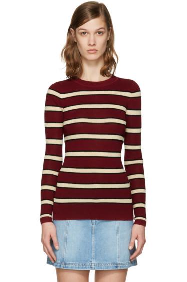 Isabel Marant Etoile - Burgundy Striped Derring Pullover