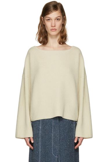 Isabel Marant - Ecru Oversized Fly Sweater