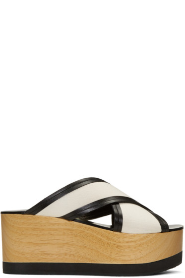 Isabel Marant - Ecru Zerry Wedge Sandals