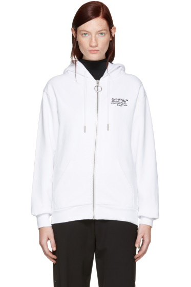 Off-White - White Off Zip Hoodie