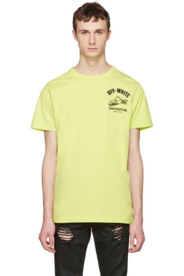 Off-White - Green Construction T-Shirt