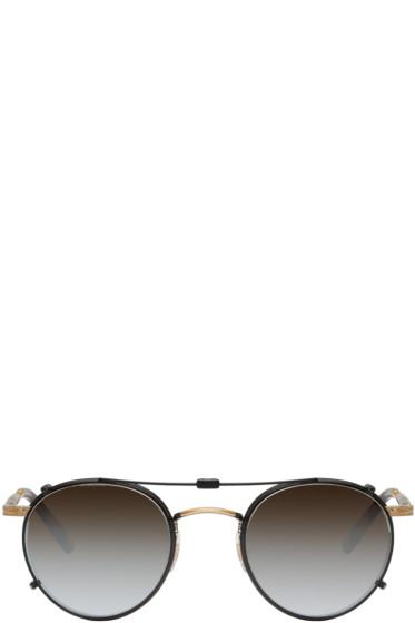 Garrett Leight - Black Clip-On Wilson Sunglasses