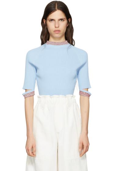 Nomia - Blue Slit Pullover
