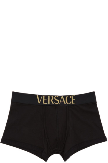 Versace Underwear - Black Logo Boxer Briefs