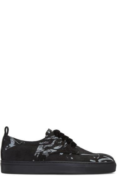 AD Ann Demeulemeester - Black Suede Splatter Sneakers