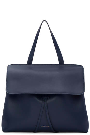 Mansur Gavriel - Navy Leather Lady Bag