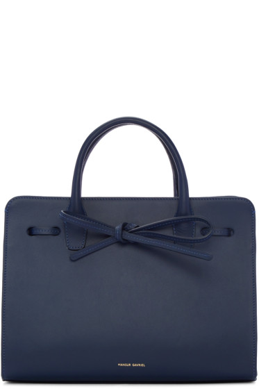 Mansur Gavriel - Navy Leather Mini Sun Tote