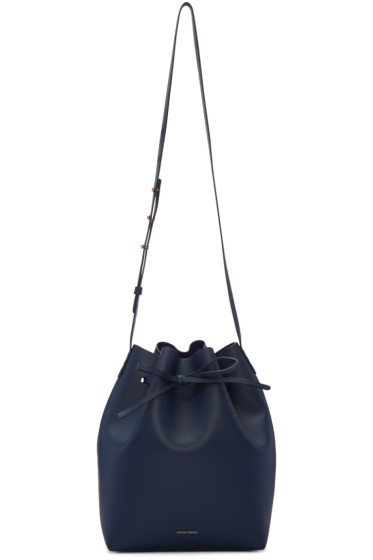 Mansur Gavriel - Navy Leather Bucket Bag