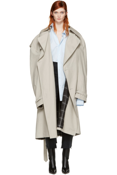 Vetements - Grey Mackintosh Edition Oversized Trench Coat
