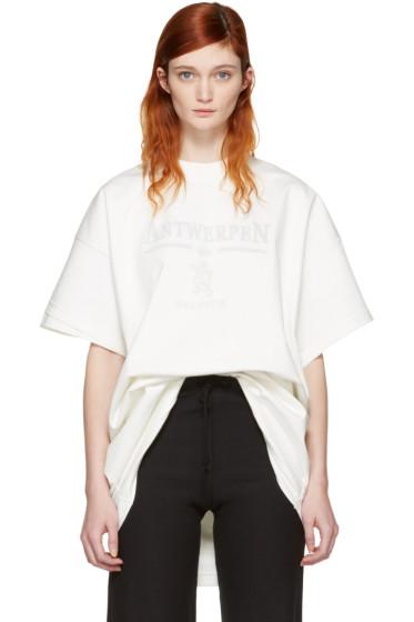 Vetements - White Hanes Edition Oversized Double Antwerpen T-Shirt