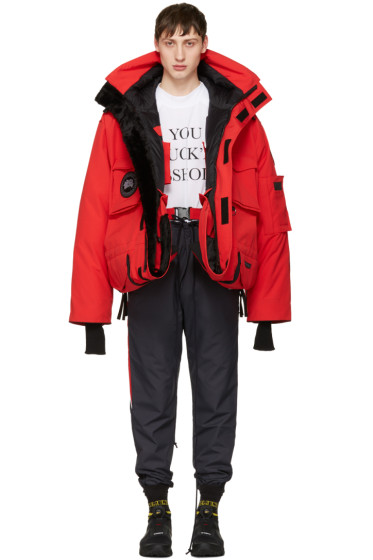 Vetements - Red Canada Goose Edition Down Parka