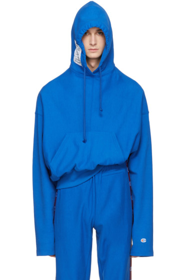 Vetements - Blue Champion Edition Archive Hoodie