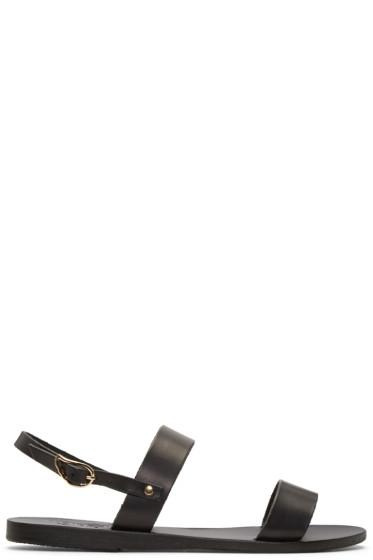Ancient Greek Sandals - Black Clio Sandals