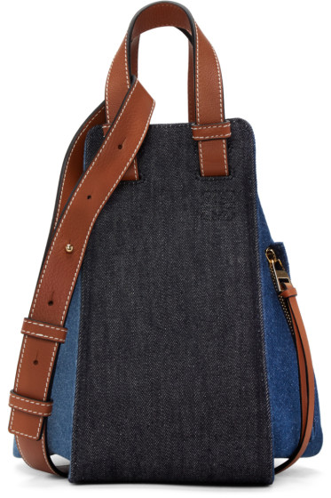 Loewe - Blue Denim Small Hammock Bag