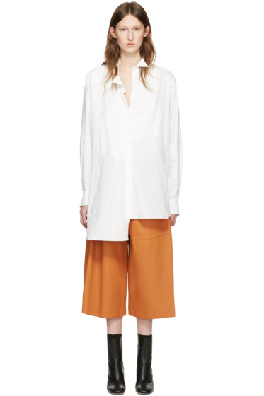 Loewe - White Cotton Asymmetric Shirt