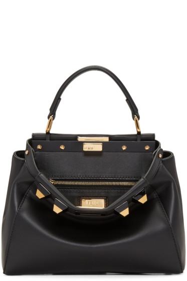 Fendi - Black Studded Mini Peekaboo Bag