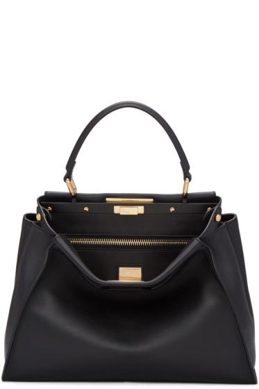 Fendi - Black Regular Peekaboo Bag