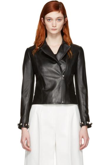 Fendi - Black Leather Studded Jacket