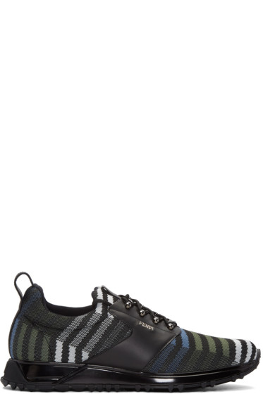 Fendi - Black Zig Zag Sneakers