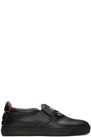 Fendi - Black 'Bag Bug' Slip-On Sneakers
