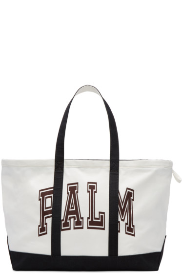 Palm Angels - White Canvas Palm Tote