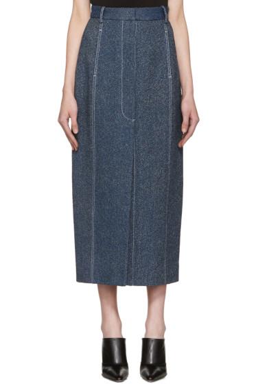 Rosetta Getty - Indigo High-Rise Straight Skirt