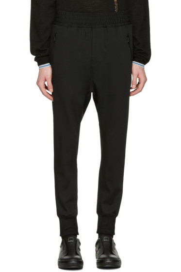 Wooyoungmi - Black Fleece Wool Lounge Pants