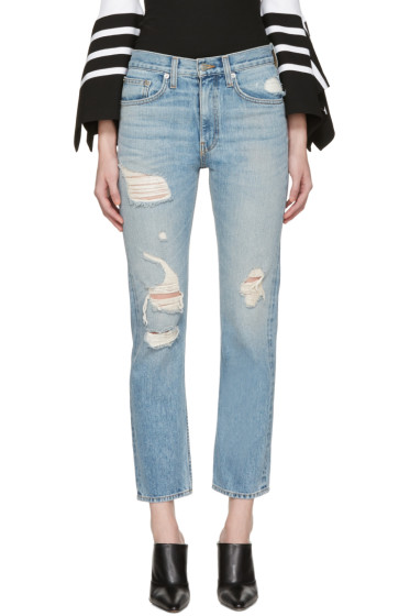 Brock Collection - Blue Distressed Wright Jeans