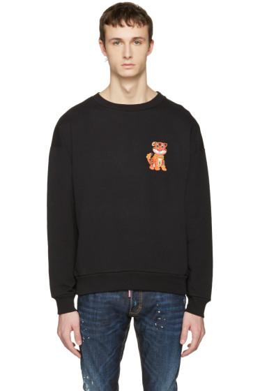 Moschino - Black Cotton Tiger Pullover