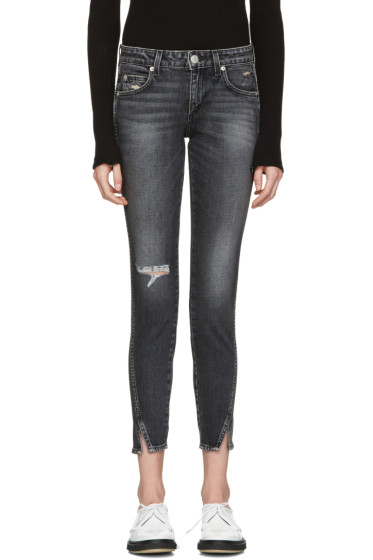 Amo - Black Distressed Twist Jeans
