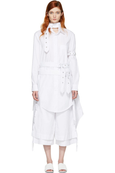 Craig Green - White Cotton Shirt Dress