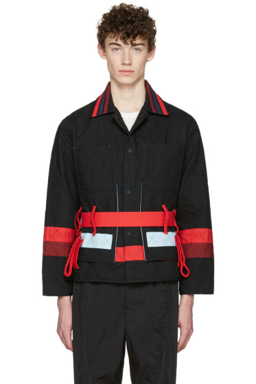 Craig Green - Black Cotton Diamond Jacket