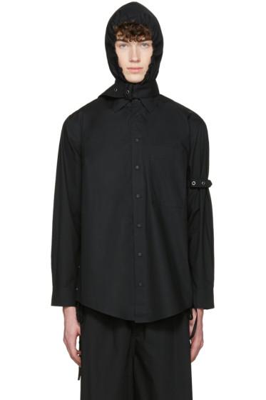 Craig Green - Black Cotton Hooded Shirt