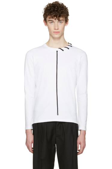 Craig Green - White Lace-Up Collar T-Shirt