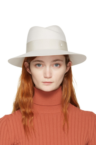 Maison Michel - Off-White Felt Virginie Fedora